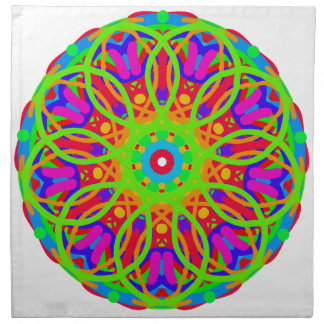 Neon Nation Mandala Design Napkin