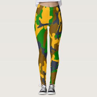 Neon Ninja Girl Glam Camo Leggings