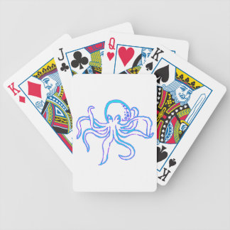 Neon Octopus Bicycle Playing Cards