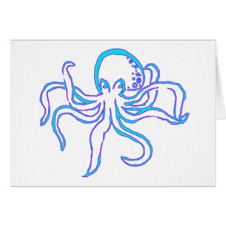 Neon Octopus Card