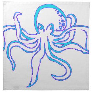 Neon Octopus Napkin