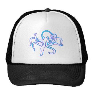 Neon Octopus Trucker Hat