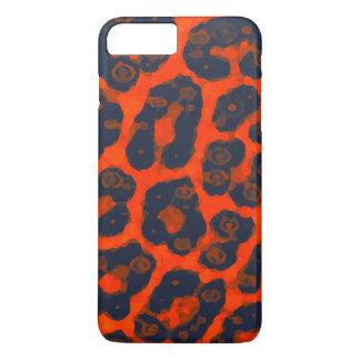 Neon Orange Black Cheetah iPhone 7 Plus Case
