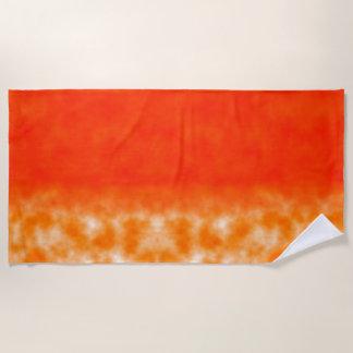 Neon Orange Chemical Glow Beach Towel