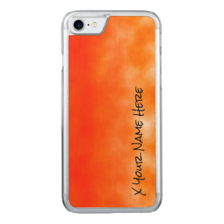 Neon Orange Chemical Glow Look 2 Carved iPhone 7 Case