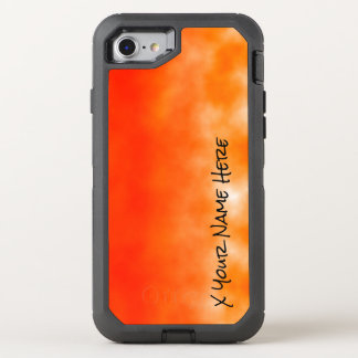 Neon Orange Chemical Glow Look 2 OtterBox Defender iPhone 8/7 Case