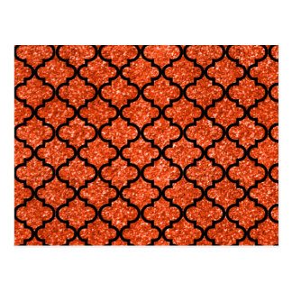 Neon orange glitter moroccan postcard
