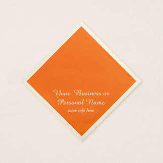 neon  orange solid color paper napkins
