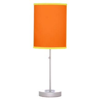 neon orange solid color table lamp