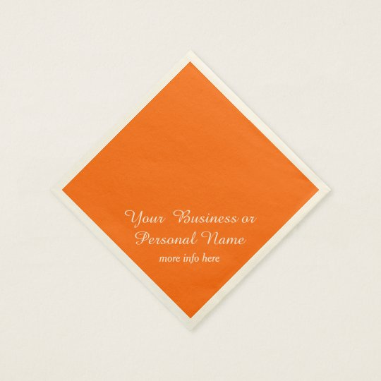 neon  orange solid colour paper napkins