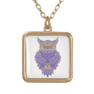 Neon Owl Gold Plated Necklace