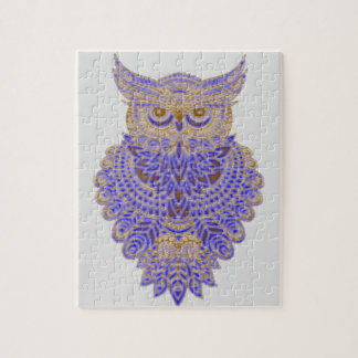 Neon Owl Jigsaw Puzzle