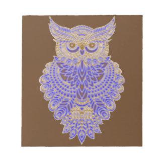 Neon Owl Notepad