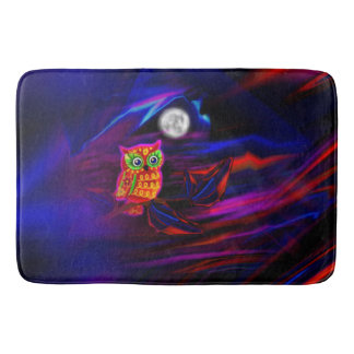 Neon Owl Thunderstorm Flash Bath Mat