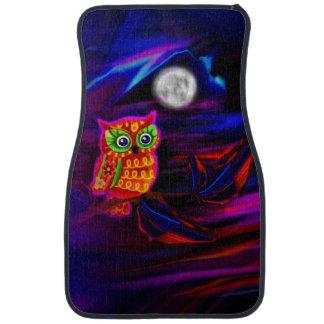 Neon Owl Thunderstorm Flash Car Mat