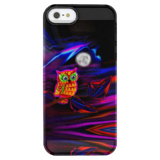 Neon Owl Thunderstorm Flash Clear iPhone SE/5/5s Case