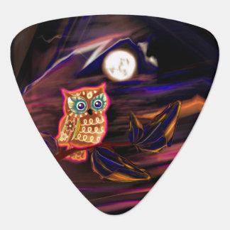 Neon Owl Thunderstorm Flash Fantasia Guitar Pick