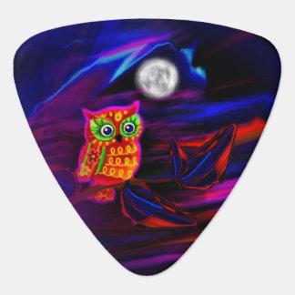 Neon Owl Thunderstorm Flash Guitar Pick