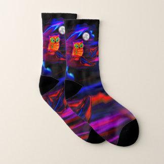 Neon Owl Thunderstorm Flash Socks