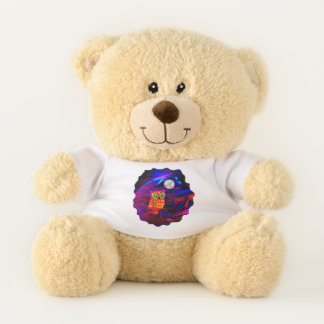 Neon Owl Thunderstorm Flash Teddy Bear