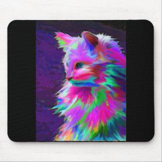 Neon Paint Color Maine Coon Cat Mousepad