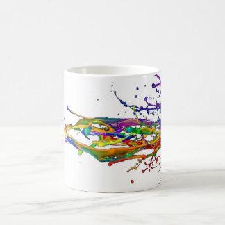 Neon Paint Splatter Mug