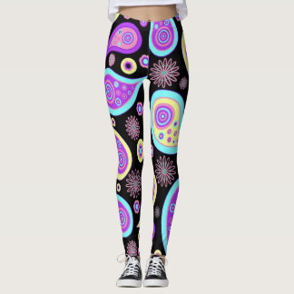 Neon Paisley Pattern Leggings