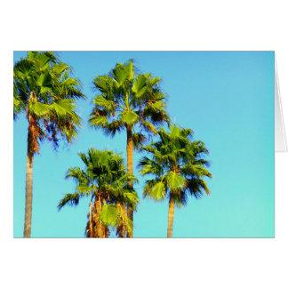 Neon Palm Trees Card
