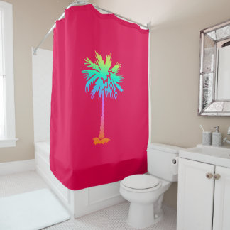 neon palm tropical summer bright colorful pink