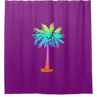neon palm tropical summer bright colorful purple