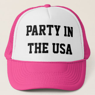 Neon Party in The USA Trucker hat