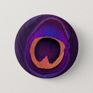 Neon Peacock 2 Inch Round Button