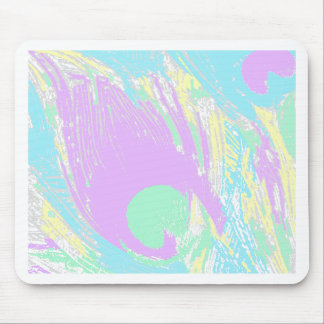 neon-peacock-feathers mouse pad