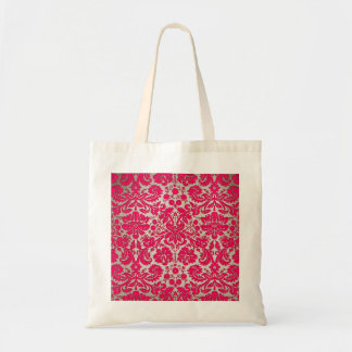 Neon Pink and Gold Damask Bags