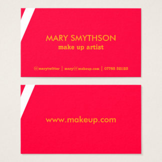 Neon pink and orange business card