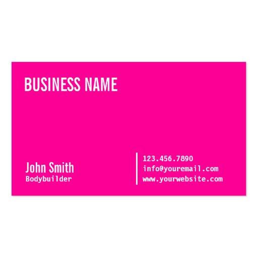 Neon Pink Bodybuilding Business Card