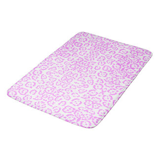 Neon Pink Cheetah Animal Print Bath Mat