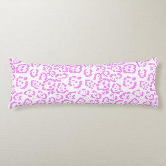 Neon Pink Cheetah Animal Print Body Pillow