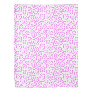 Neon Pink Cheetah Animal Print Duvet Cover