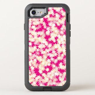 Neon Pink Lemon Cream Yellow Stars OtterBox Defender iPhone 8/7 Case