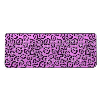 Neon Pink Leopard Print Animal Pattern Wireless Keyboard