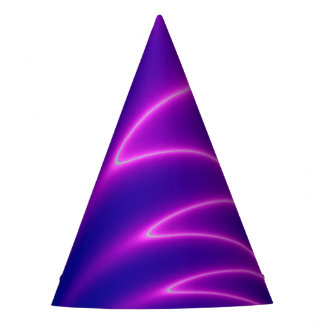 Neon Pink Lightning Party Hat
