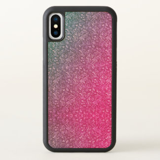 Neon Pink Muted Blue Floral Bright Colourful iPhone X Case