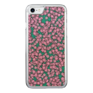 Neon Pink Purple Green Turquoise Stars Carved iPhone 8/7 Case