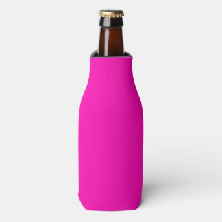Neon Pink Solid Colour Customize It Bottle Cooler