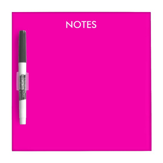 Neon Pink Solid Colour Customize It Dry-Erase Whiteboard