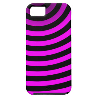Neon Pink Stripes Case For The iPhone 5
