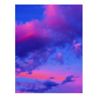 Neon Pink Sunset Postcard