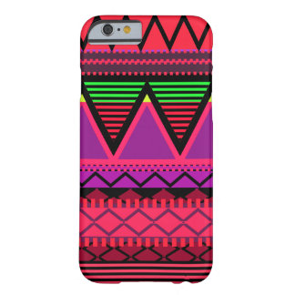 Neon Pink Tribal Barely There iPhone 6 Case