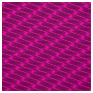 Neon Pink Wavy Lines Fabric Pattern